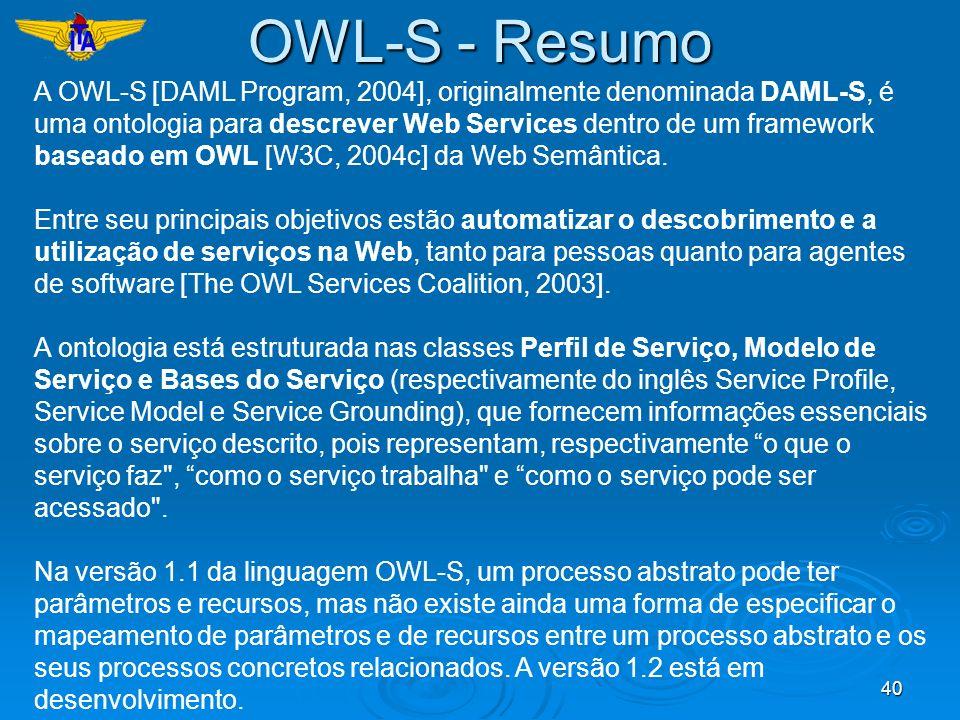 OWL-S - Resumo