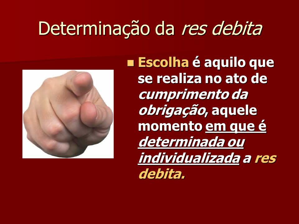 Determinação da res debita