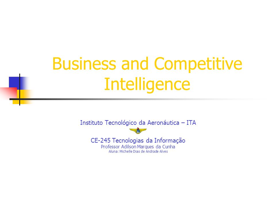 Business and Competitive Intelligence
