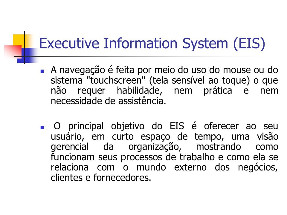 Executive Information System (EIS)