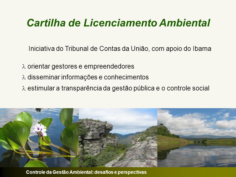 Cartilha de Licenciamento Ambiental