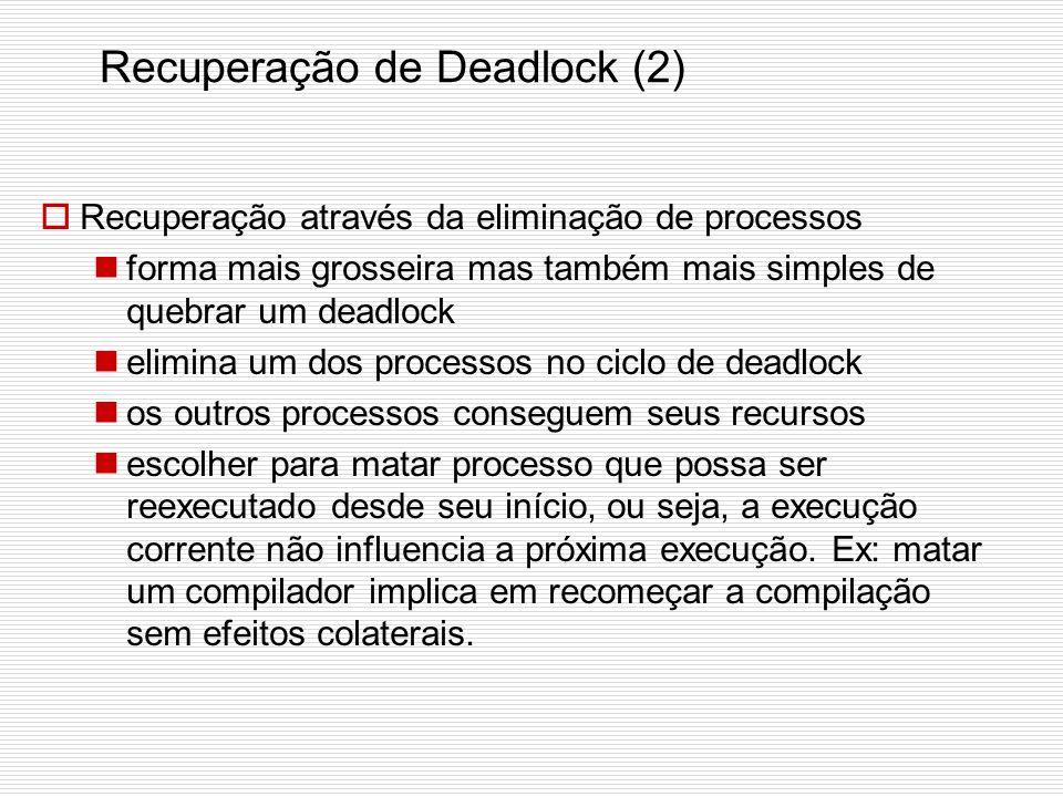 Recuperação de Deadlock (2)