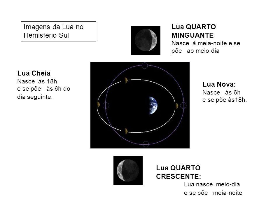 Imagens da Lua no Hemisfério Sul Lua QUARTO MINGUANTE