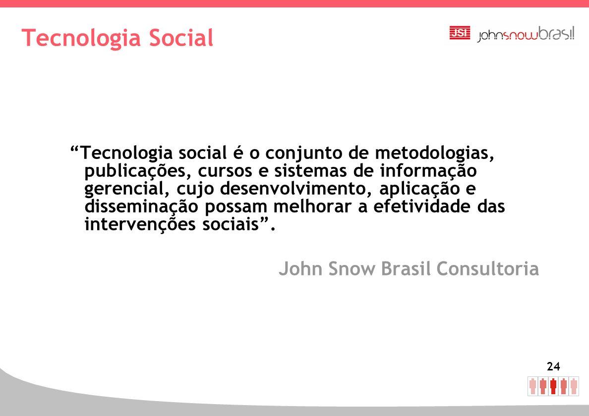 Tecnologia Social John Snow Brasil Consultoria