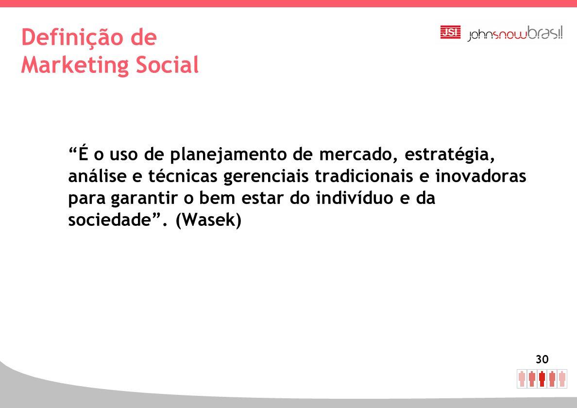 Definição de Marketing Social