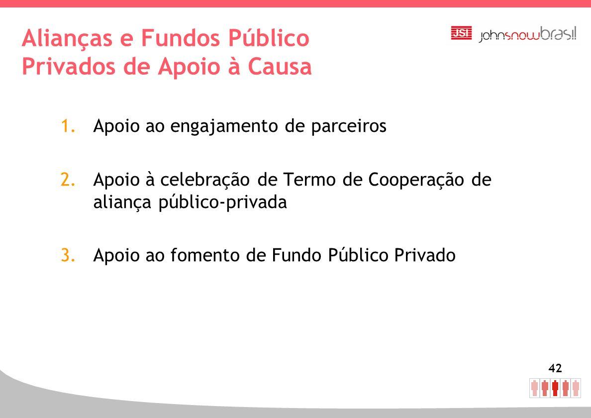 Alianças e Fundos Público Privados de Apoio à Causa