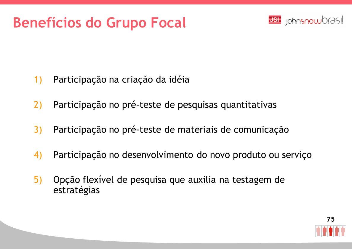 Benefícios do Grupo Focal