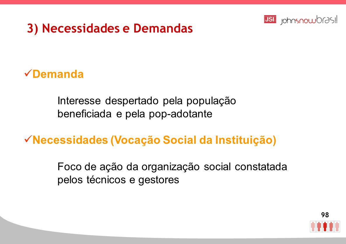 3) Necessidades e Demandas