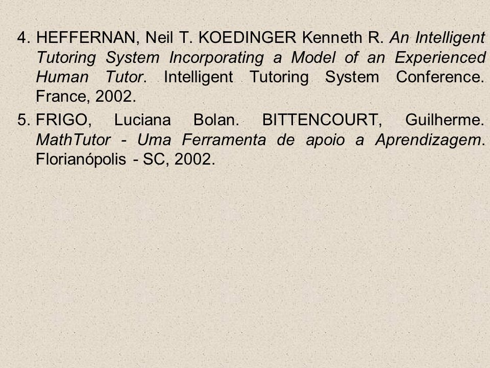 4. HEFFERNAN, Neil T. KOEDINGER Kenneth R