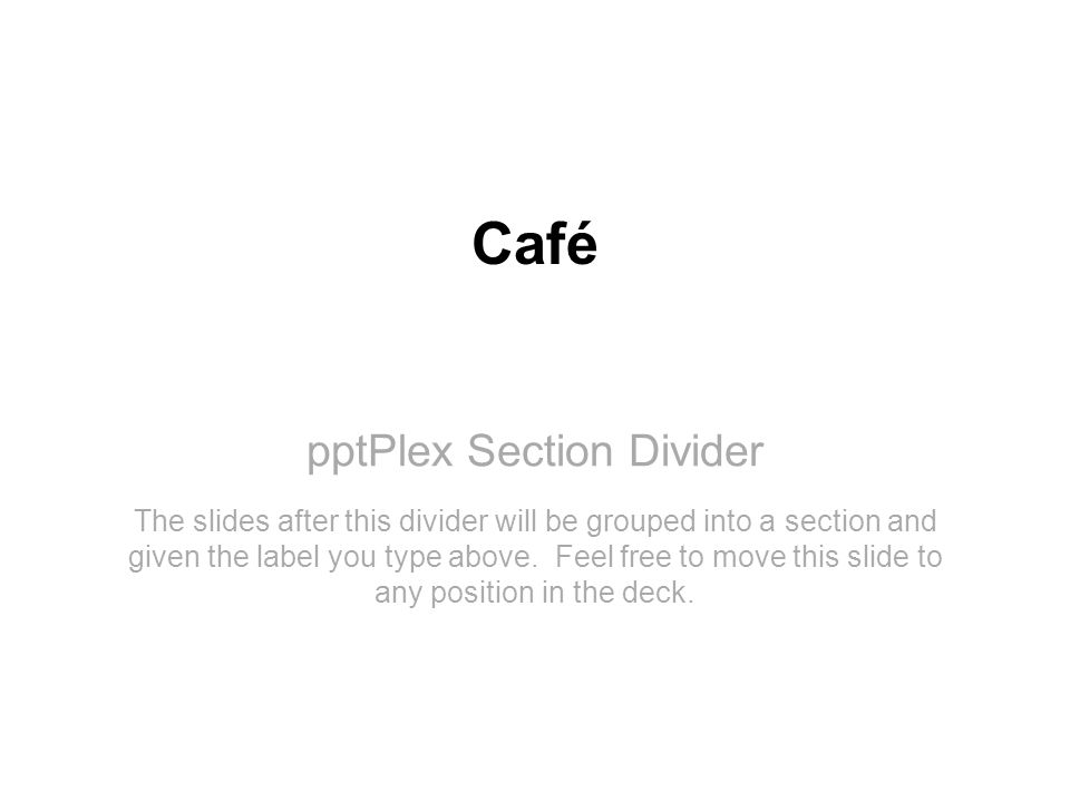pptPlex Section Divider