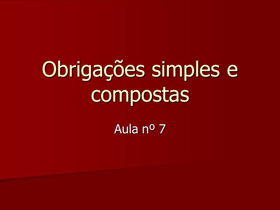 Obrigações simples e compostas