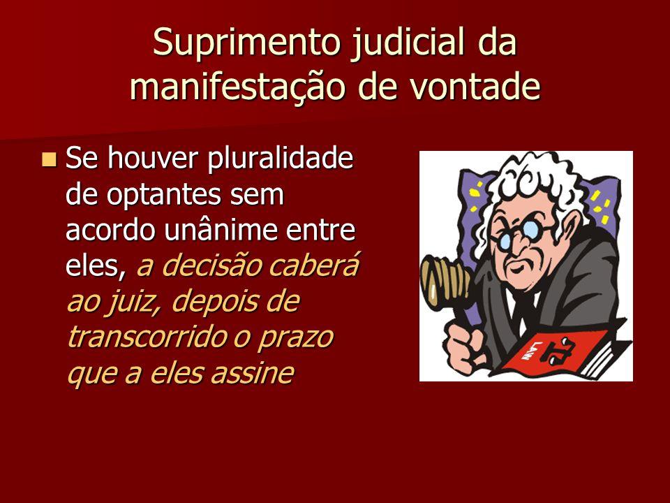 Suprimento judicial da manifestação de vontade