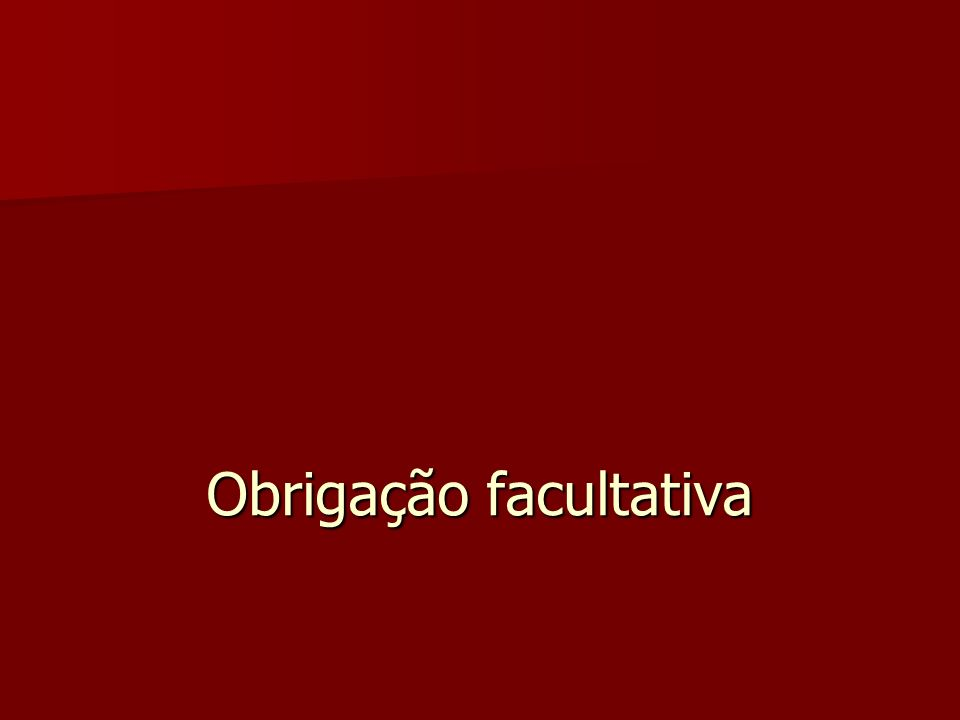 Obrigação facultativa