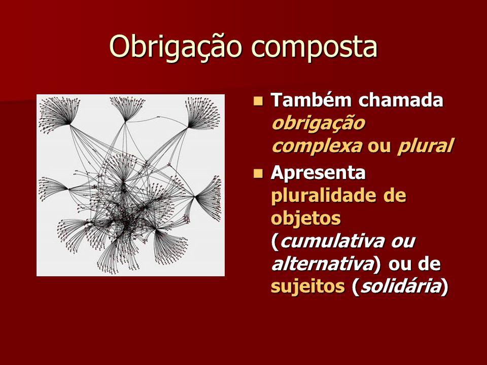 Obrigação composta Também chamada obrigação complexa ou plural