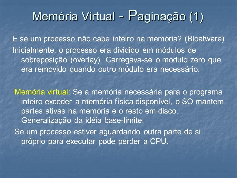 Memória Virtual - Paginação (1)