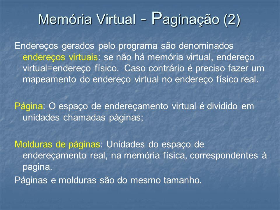 Memória Virtual - Paginação (2)
