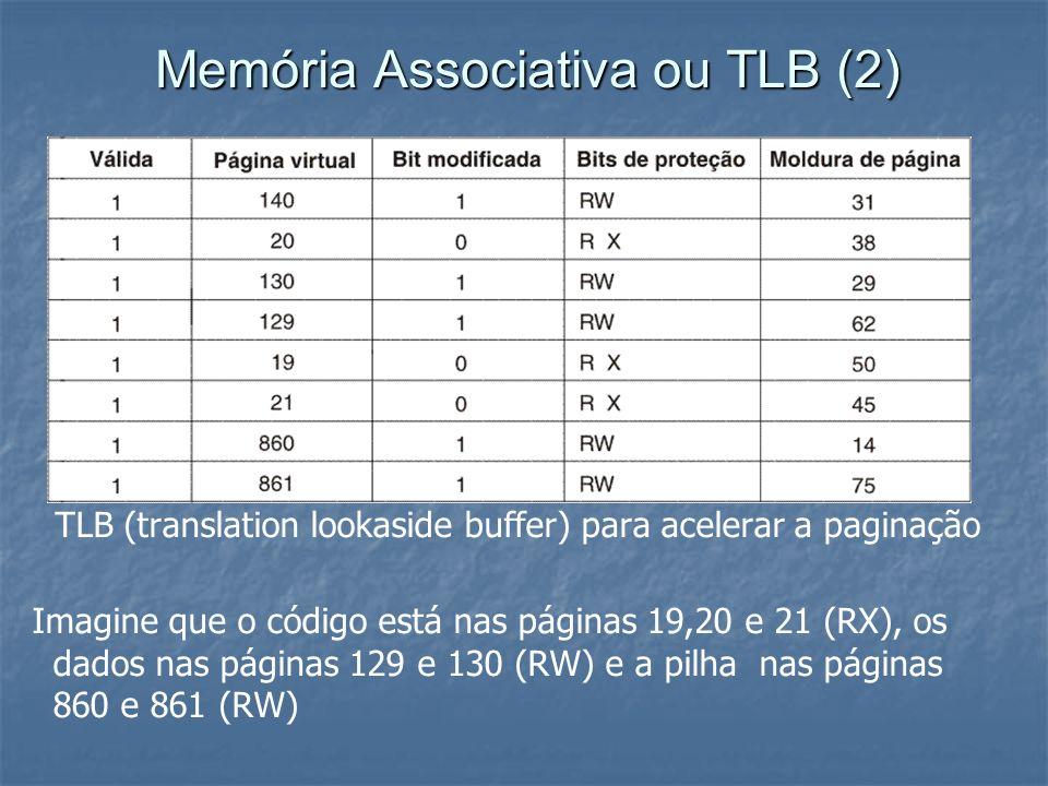 Memória Associativa ou TLB (2)