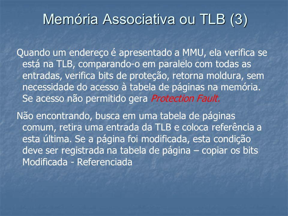 Memória Associativa ou TLB (3)