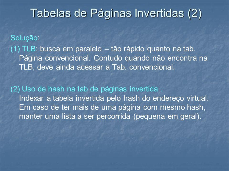 Tabelas de Páginas Invertidas (2)