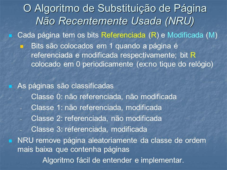 O Algoritmo de Substituição de Página Não Recentemente Usada (NRU)