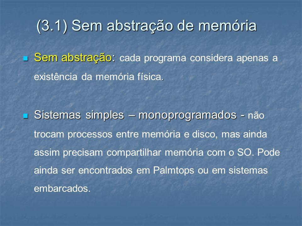 (3.1) Sem abstração de memória