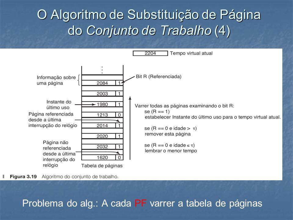O Algoritmo de Substituição de Página do Conjunto de Trabalho (4)