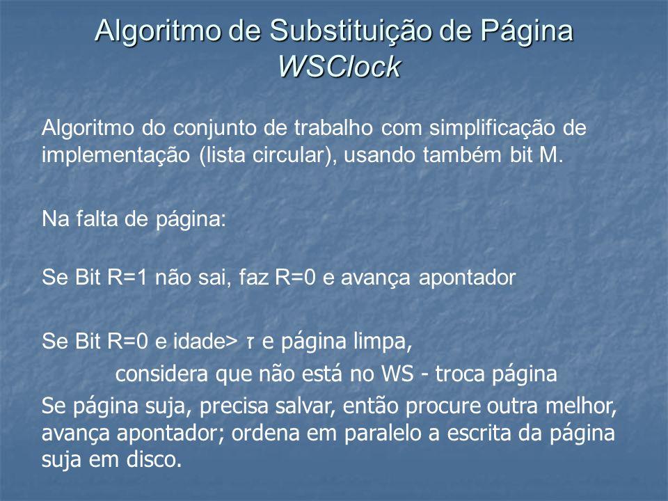 Algoritmo de Substituição de Página WSClock