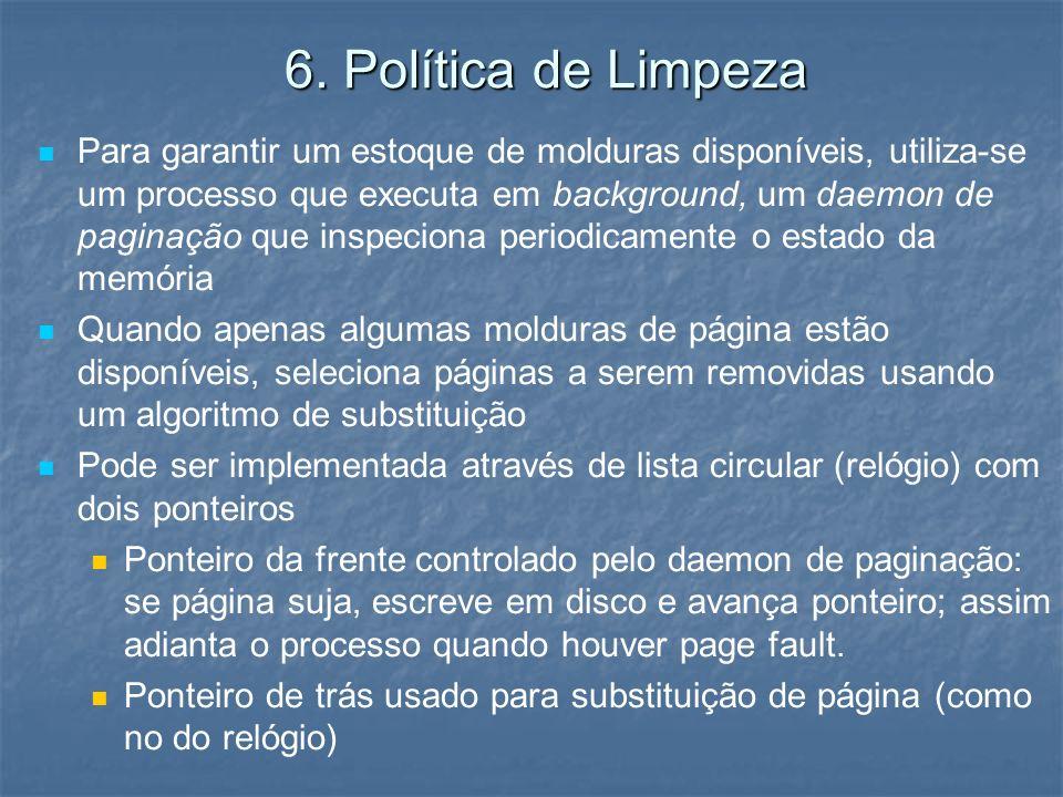 6. Política de Limpeza