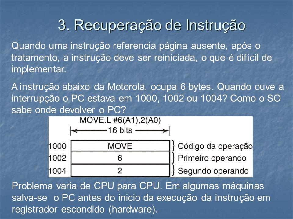 3. Recuperação de Instrução