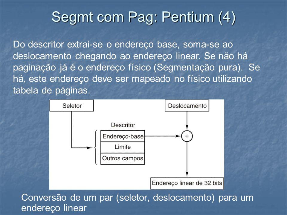 Segmt com Pag: Pentium (4)