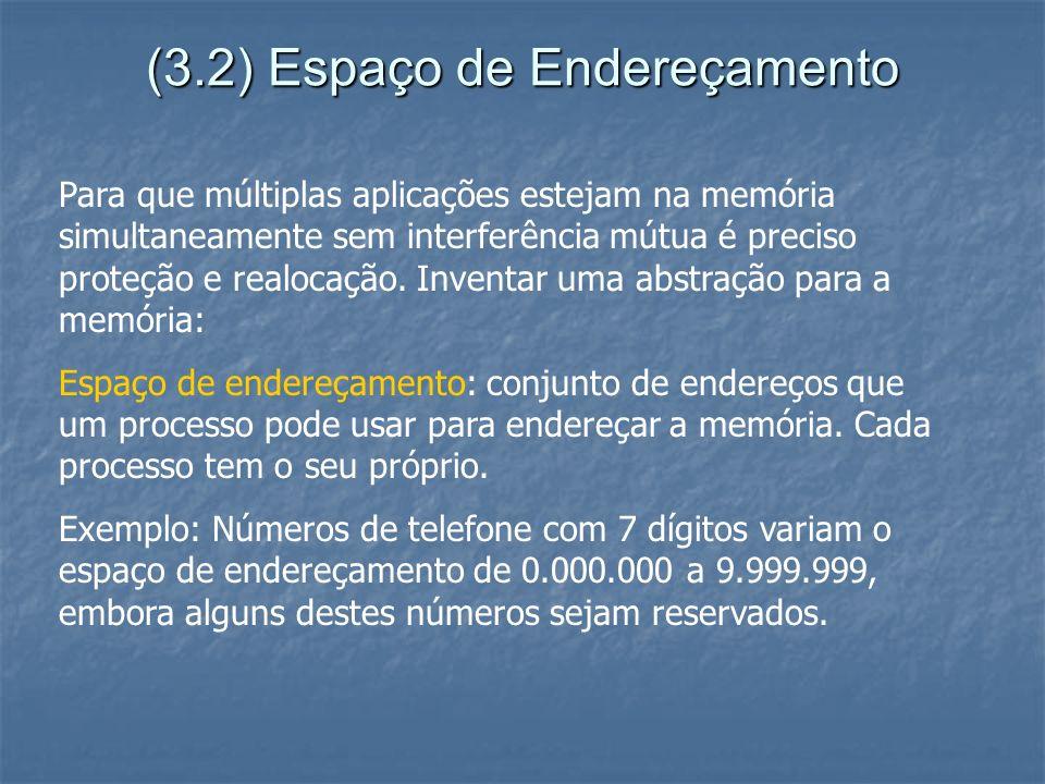 (3.2) Espaço de Endereçamento