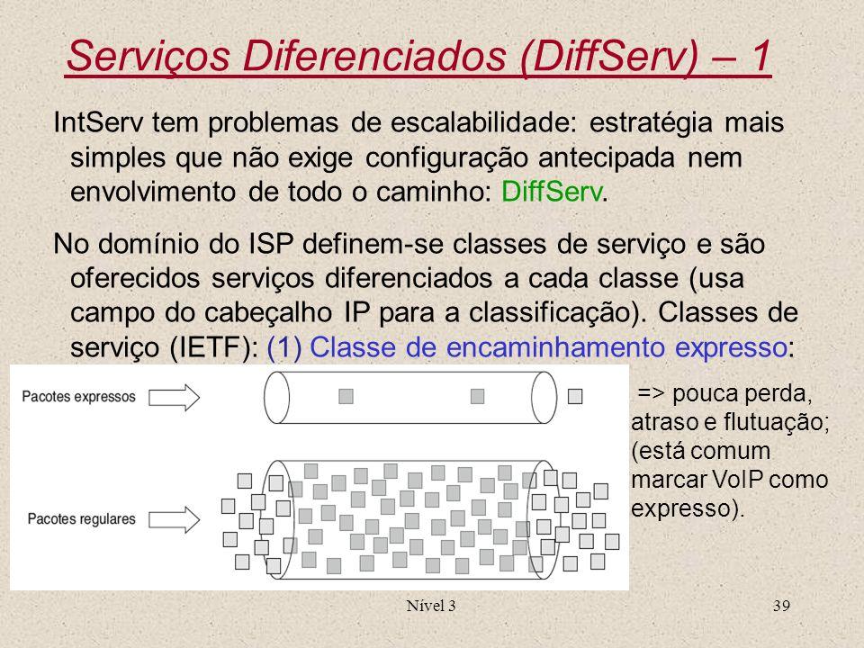 Serviços Diferenciados (DiffServ) – 1