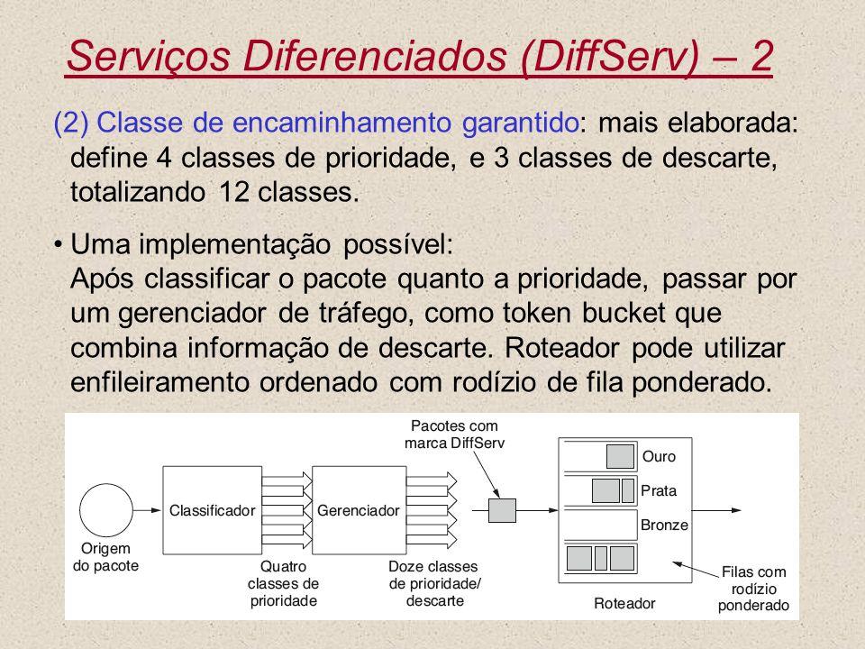 Serviços Diferenciados (DiffServ) – 2