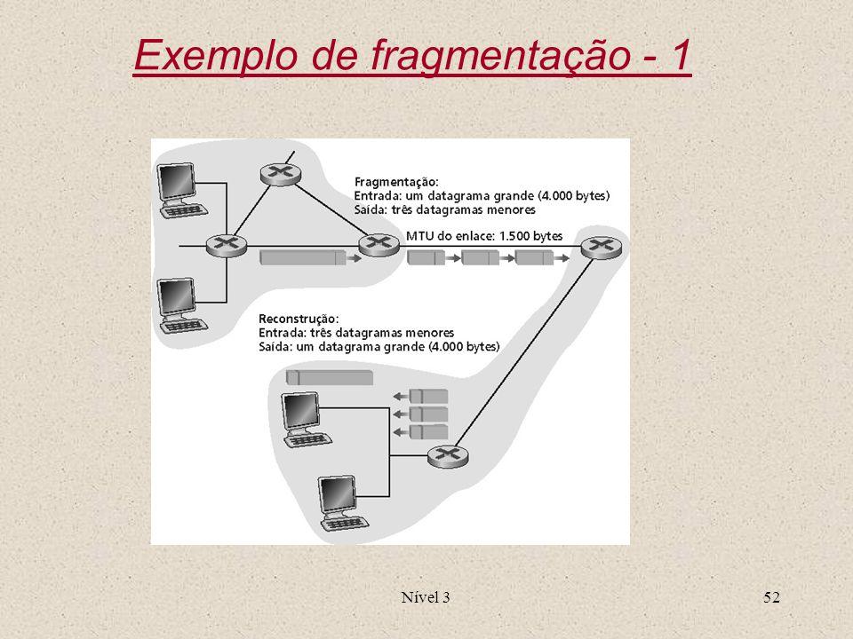 Exemplo de fragmentação - 1
