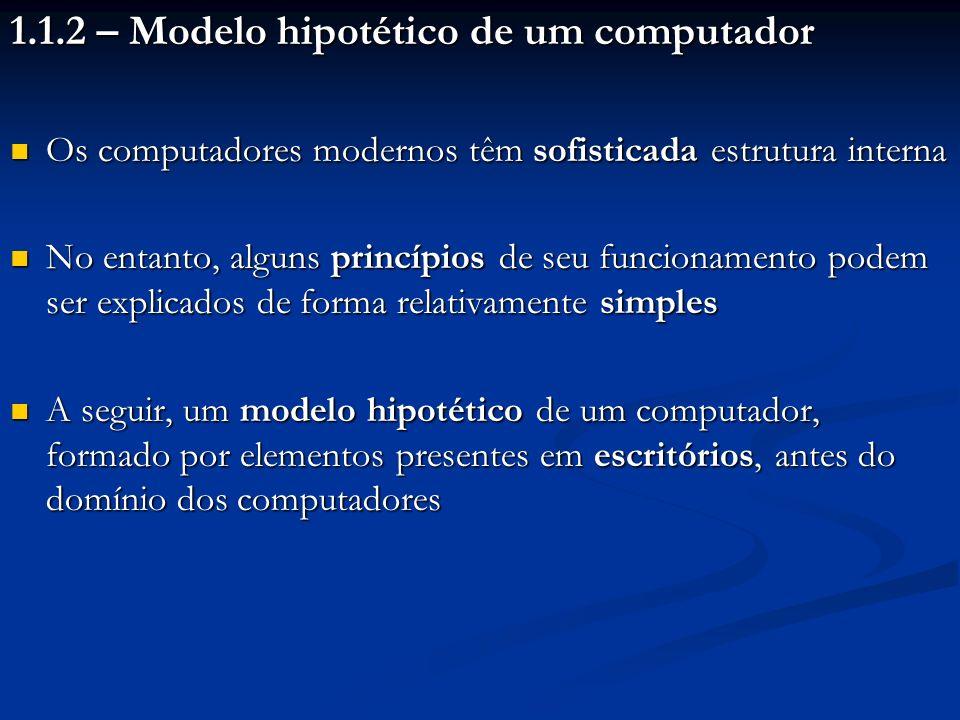 1.1.2 – Modelo hipotético de um computador