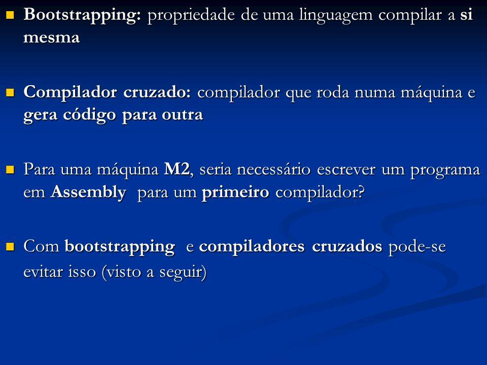 Bootstrapping: propriedade de uma linguagem compilar a si mesma