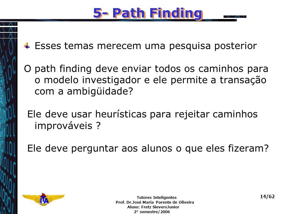 5- Path Finding Esses temas merecem uma pesquisa posterior