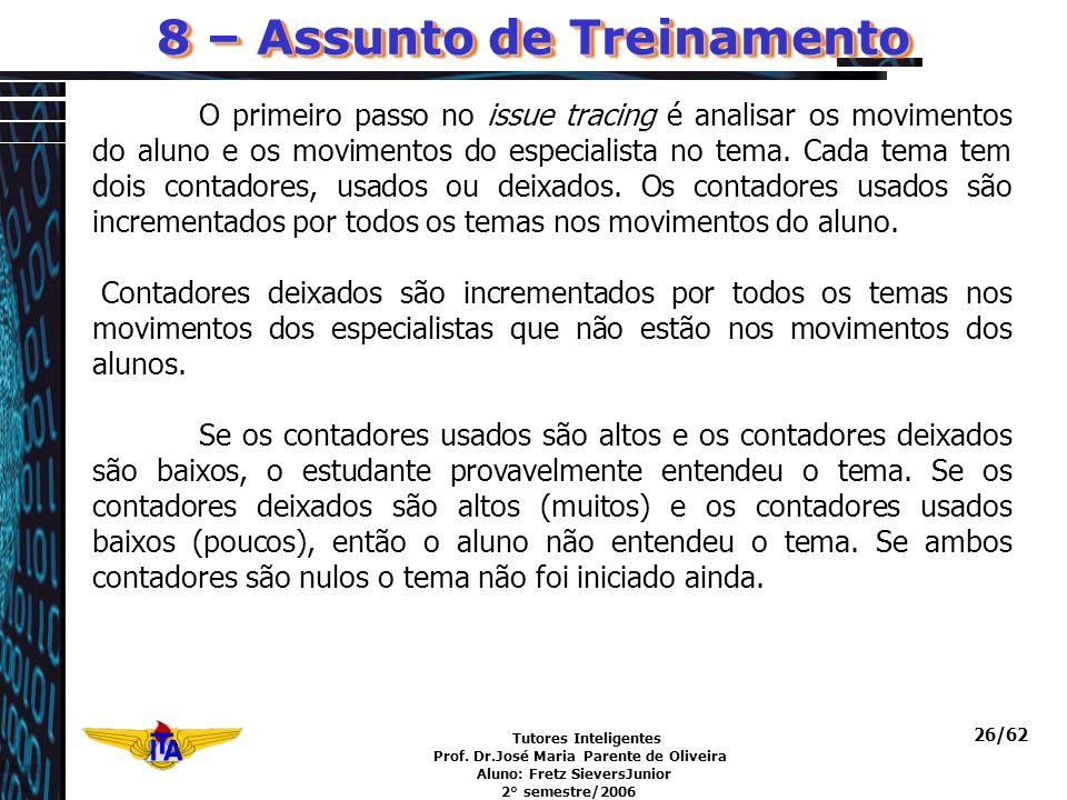 8 – Assunto de Treinamento