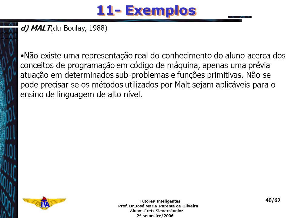 11- Exemplos d) MALT(du Boulay, 1988)
