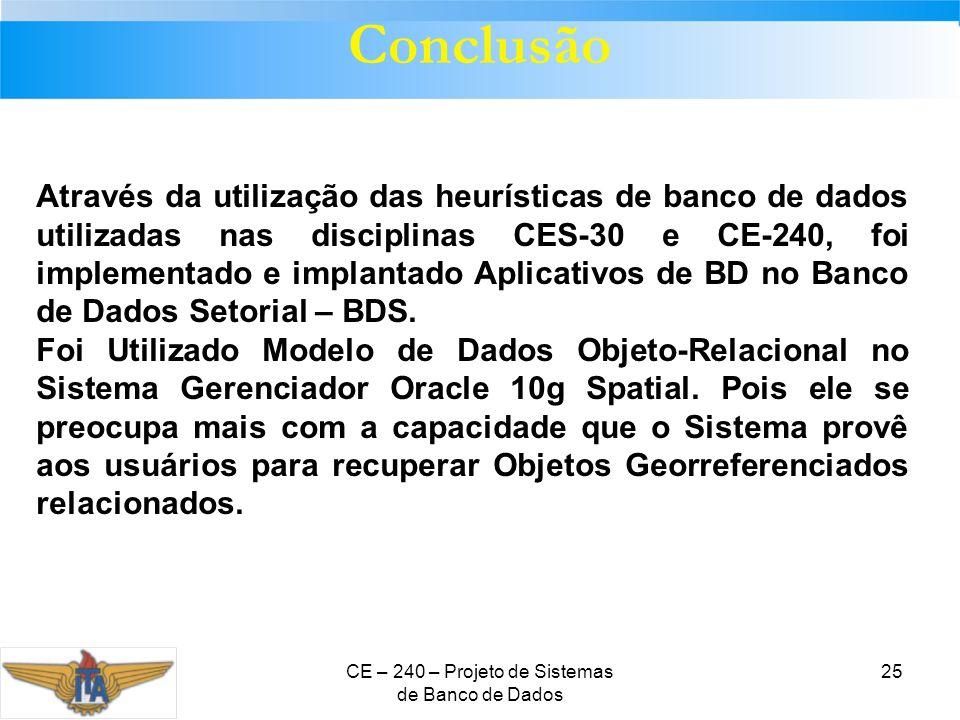 CE – 240 – Projeto de Sistemas de Banco de Dados