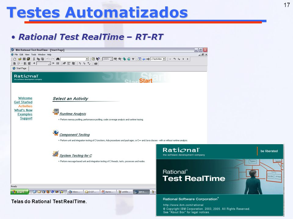 Testes Automatizados Rational Test RealTime – RT-RT
