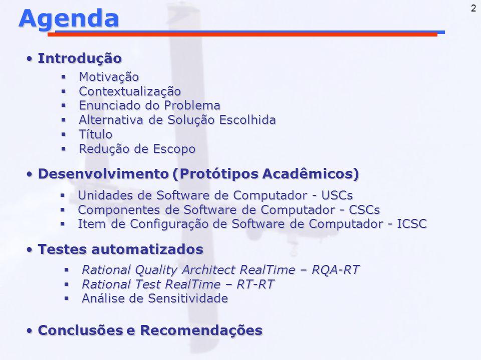 Agenda Introdução Desenvolvimento (Protótipos Acadêmicos)