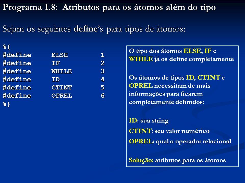 Programa 1.8: Atributos para os átomos além do tipo