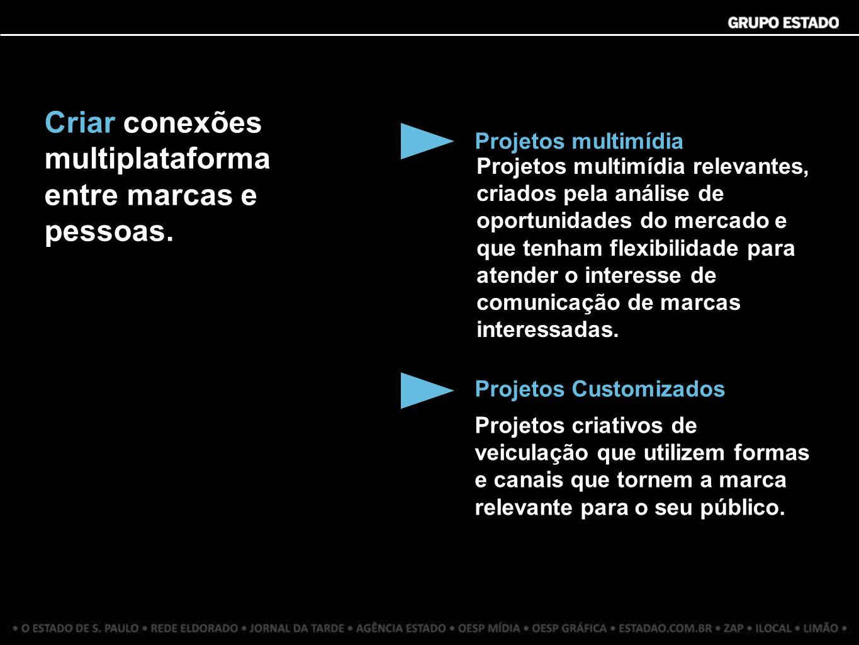 Criar conexões multiplataforma entre marcas e pessoas.
