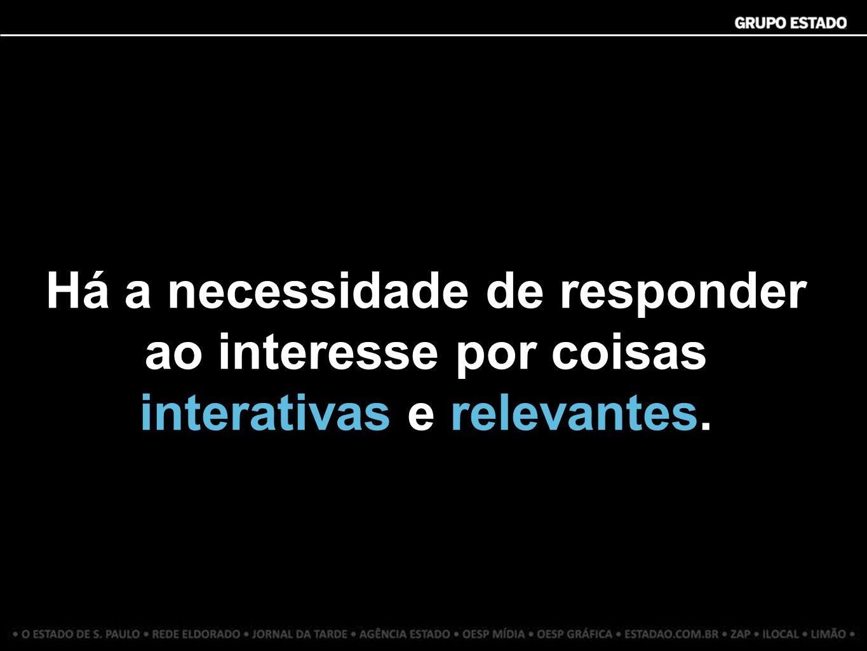 Há a necessidade de responder ao interesse por coisas interativas e relevantes.