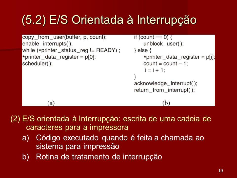 (5.2) E/S Orientada à Interrupção
