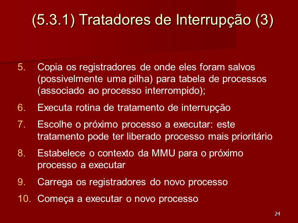 (5.3.1) Tratadores de Interrupção (3)
