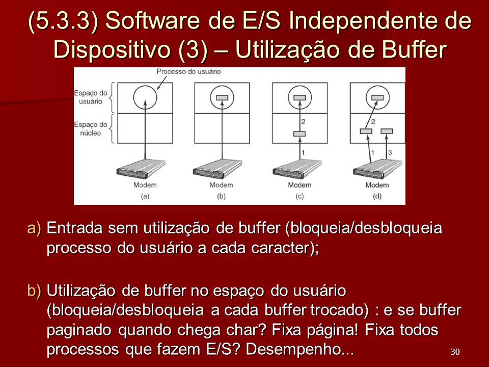 (5.3.3) Software de E/S Independente de Dispositivo (3) – Utilização de Buffer