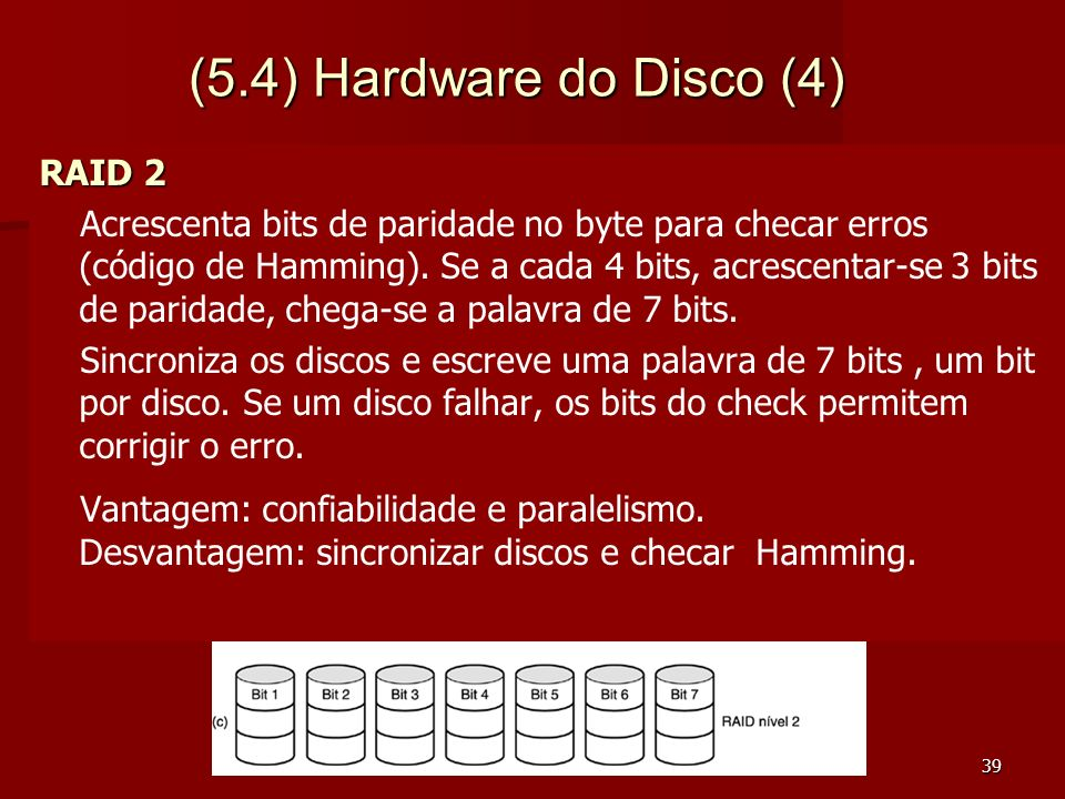 (5.4) Hardware do Disco (4) RAID 2