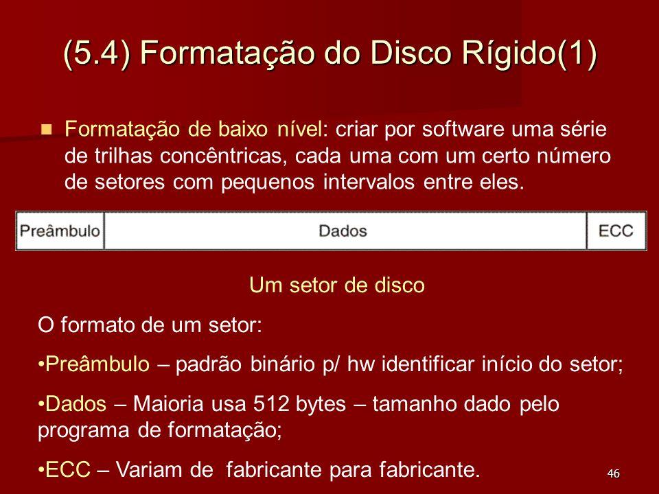 (5.4) Formatação do Disco Rígido(1)